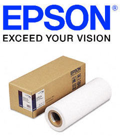 """100/% Cotton Epson S042323 Hot Press Natural Paper 17/"""" x 50/' Sized Roll"""