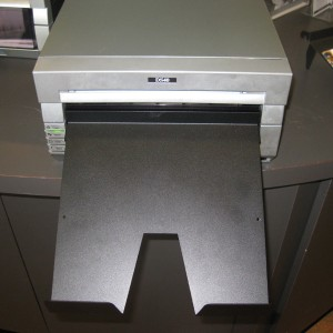 Optional metal tray (print catcher) for the DNP DS40 photo printer