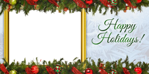 Free happy holidays 4x8 photo card template