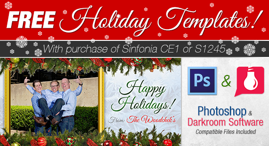 free holiday templates with purchase of sinfonia ce1 photo printer