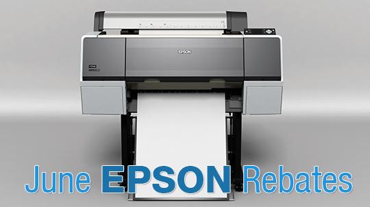 June Rebates on Epson Stylus Pro Printers and Media | Imaging