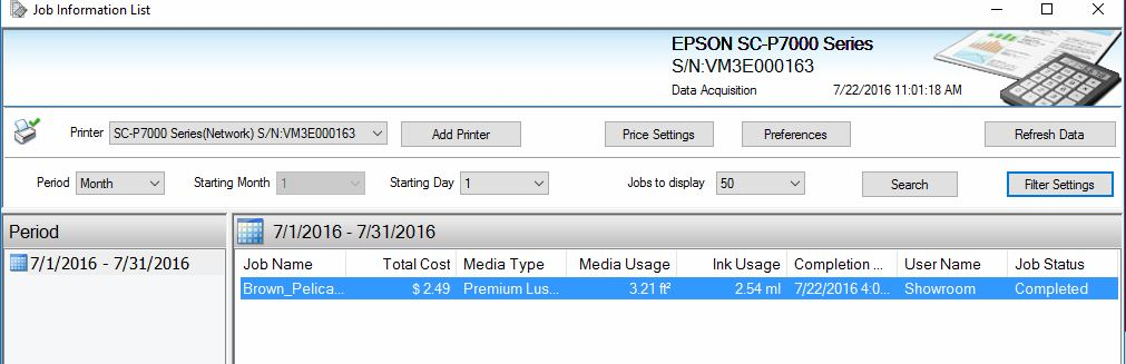 Track the Cost of Print Jobs on Epson P-Series Printers