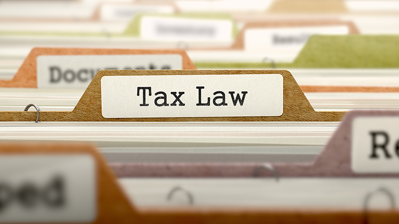 tax law banner