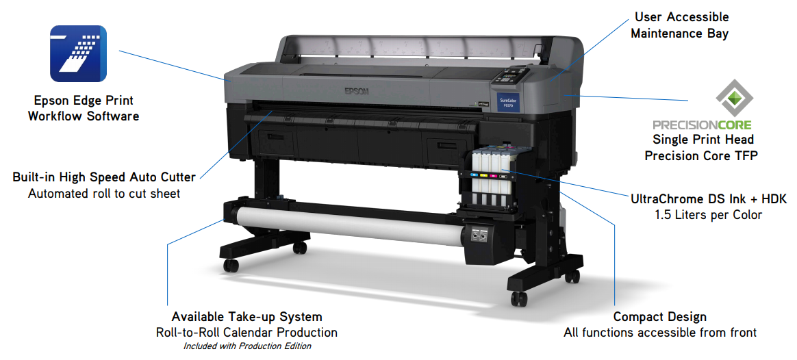 Epson SureColor F6370 printer features